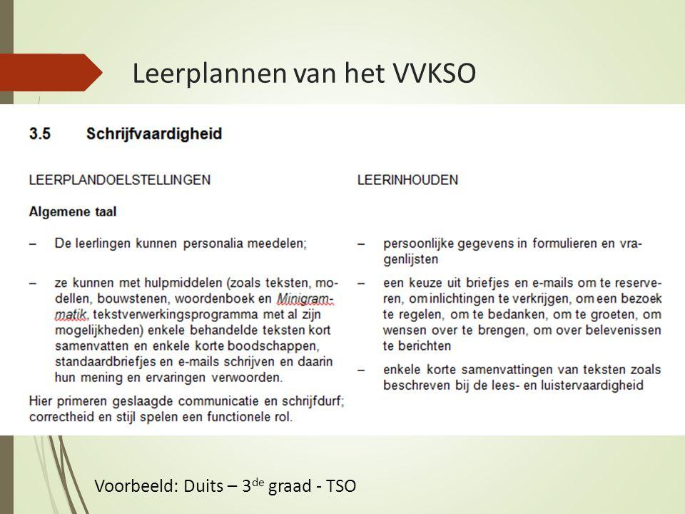 Leerplannen van het VVKSO Voorbeeld: Duits – 3 de graad - TSO