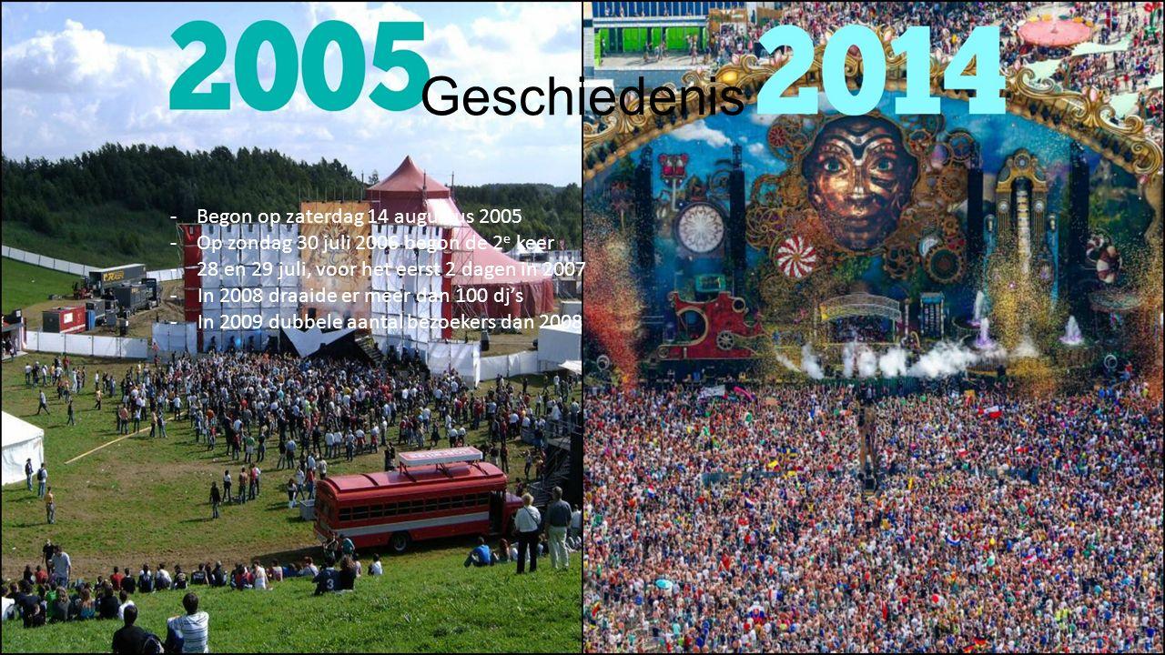 Geschiedenis - Begon op zaterdag 14 augustus 2005 - Op zondag 30 juli 2006 begon de 2 e keer - 28 en 29 juli, voor het eerst 2 dagen in 2007 -In 2008