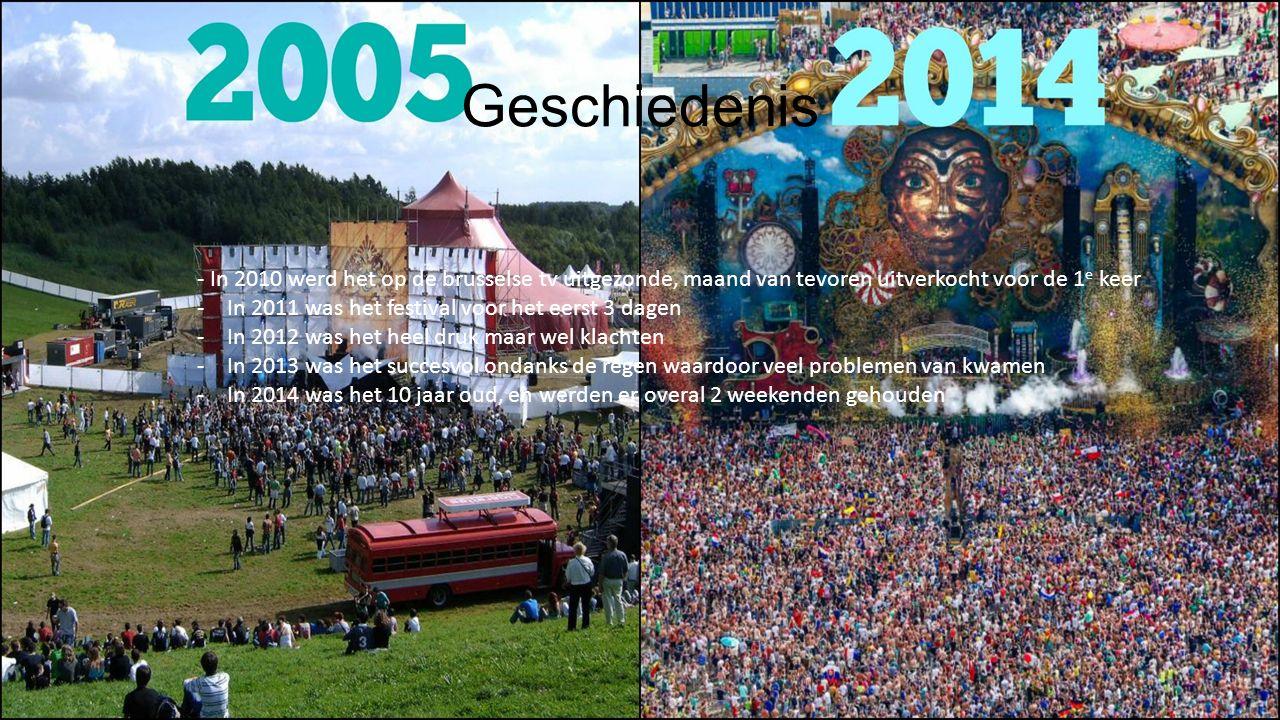 Geschiedenis - In 2010 werd het op de brusselse tv uitgezonde, maand van tevoren uitverkocht voor de 1 e keer -In 2011 was het festival voor het eerst