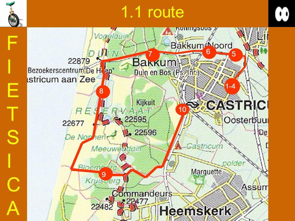 1.1 route FIETSICAFIETSICA 9 5 6 8 10 7 1-4