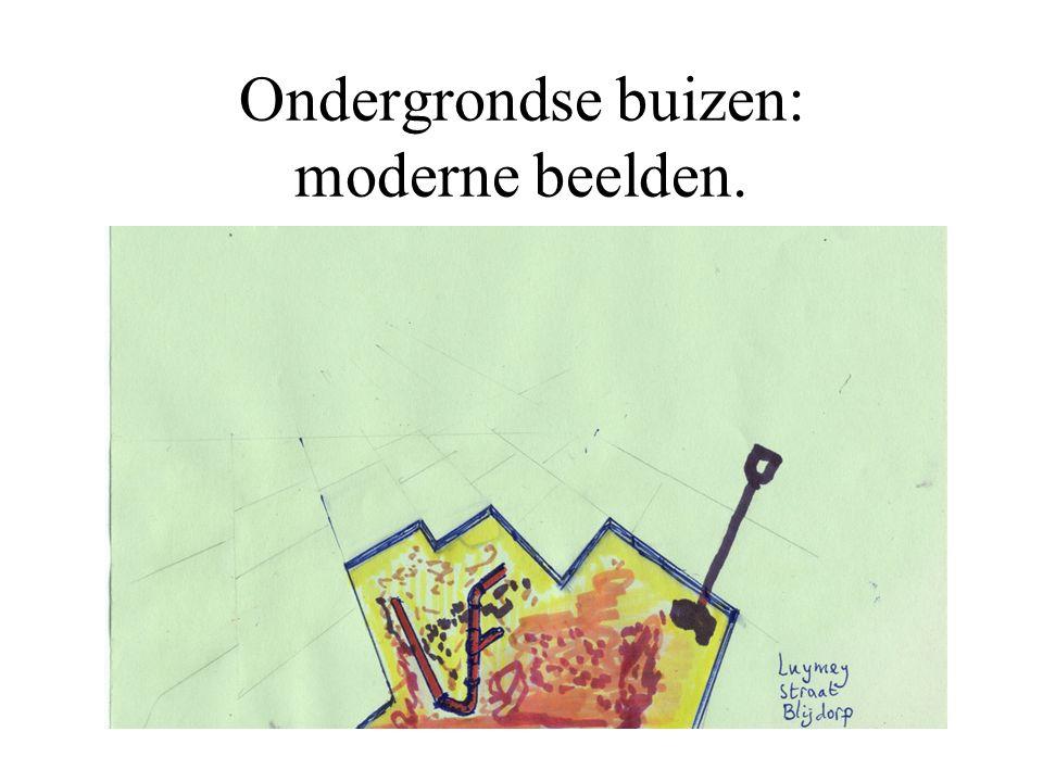 Ondergrondse buizen: moderne beelden.