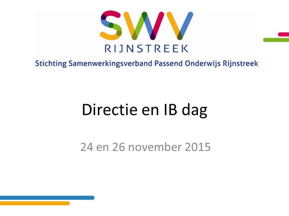 Directie en IB dag 24 en 26 november 2015