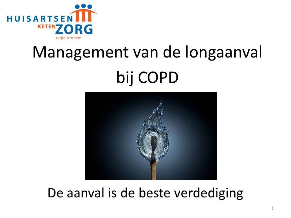 Management van de longaanval bij COPD Door: Jacob van Dijke, kaderarts astma/ COPD Margit Metselaar, longconsulent