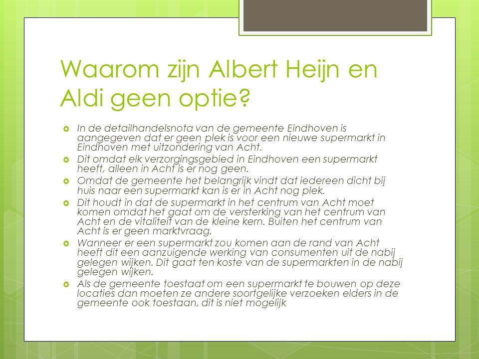 Waarom zijn Albert Heijn en Aldi geen optie.