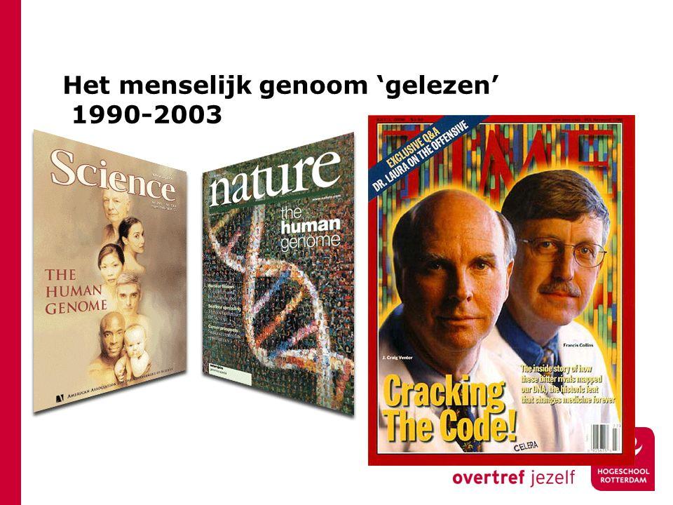 Het menselijk genoom 'gelezen' 1990-2003