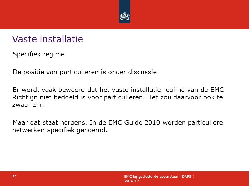 Vaste installatie 2015-12 11 EMC bij geclusterde apparatuur, DARE!.