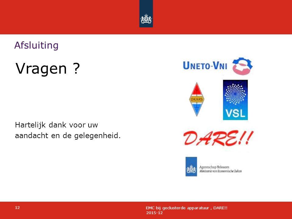 Afsluiting 2015-12 12 EMC bij geclusterde apparatuur, DARE!.