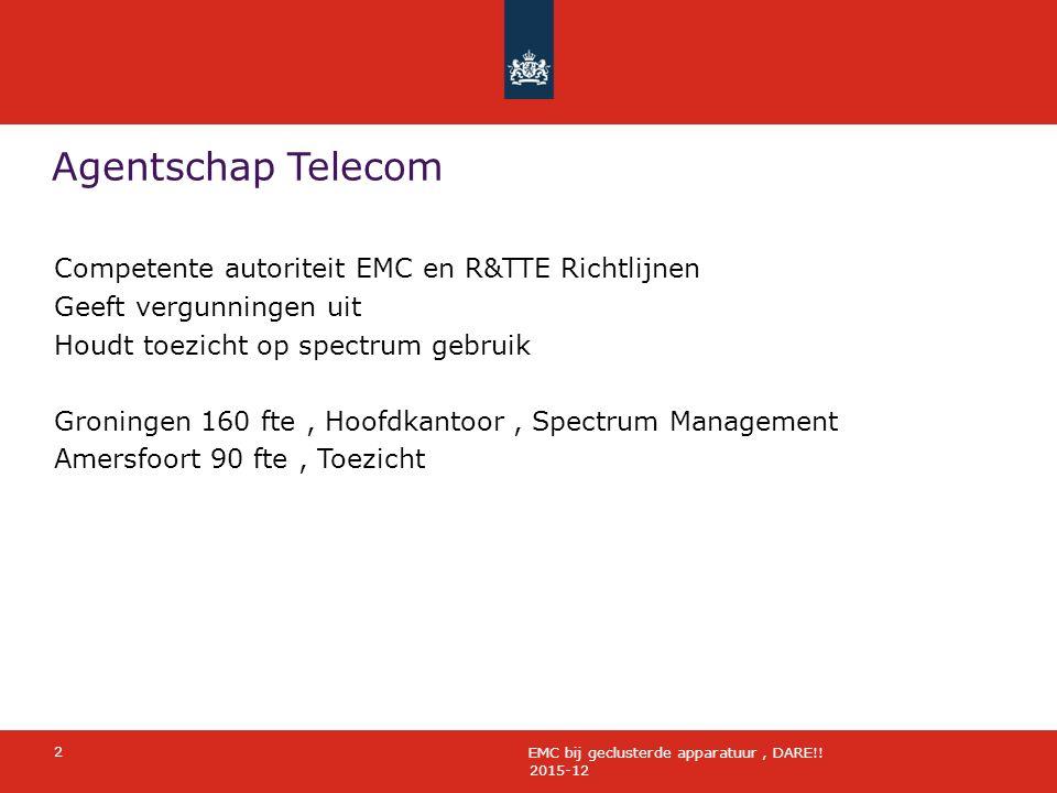 Agentschap Telecom 2015-12 2 EMC bij geclusterde apparatuur, DARE!.