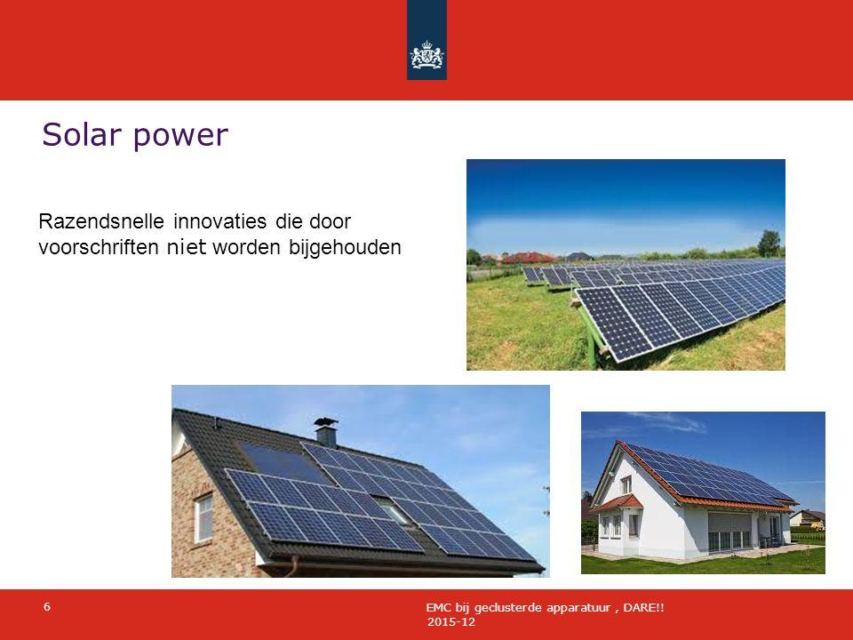 Solar power 2015-12 6 EMC bij geclusterde apparatuur, DARE!.