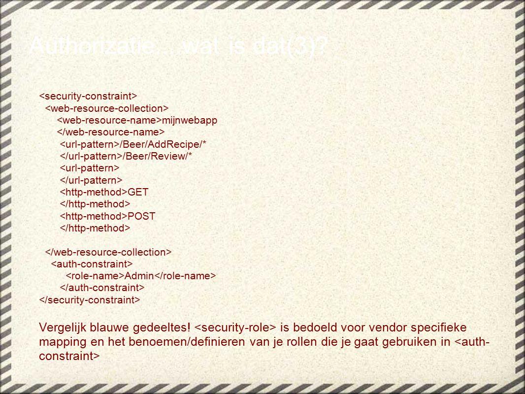 mijnwebapp /Beer/AddRecipe/* /Beer/Review/* GET POST Admin Vergelijk blauwe gedeeltes.