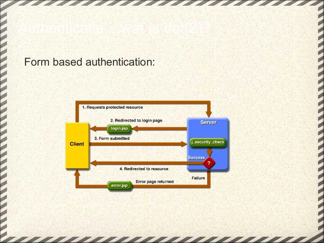 Waardes voor : NONE= hetzelfde als niets doen INTEGRAL=data mag niet veranderd worden onderweg, dwingt geen complete secure connection af zoals ssl CONFIDENTIAL=data mag niet gezien worden onderweg Vrijwel elke container gebruikt SSL en dus zijn INTEGRAL en CONFIDENTIAL nagenoeg hetzelfde.