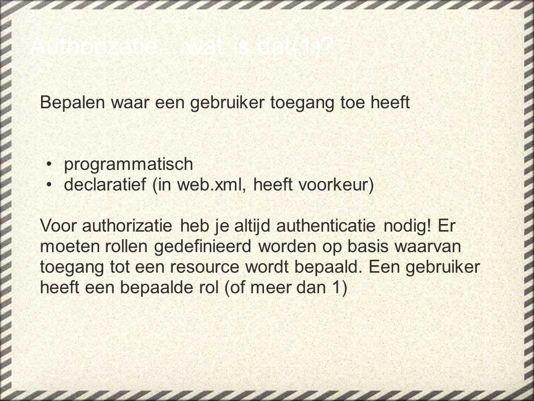 Vendor specifiek: In web.xml: Admin Guest Member Authorizatie....wat is dat(2)?