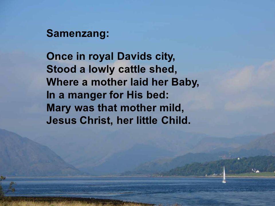 Het licht van de Vader, licht van den beginne, zien wij omsluierd, verhuld in t vlees: goddelijk kind, gewonden in de doeken.
