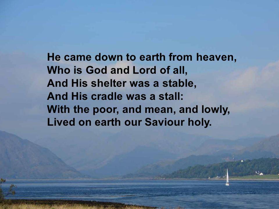 O kind, ons geboren, liggend in de kribbe, neem onze liefd in genade aan.