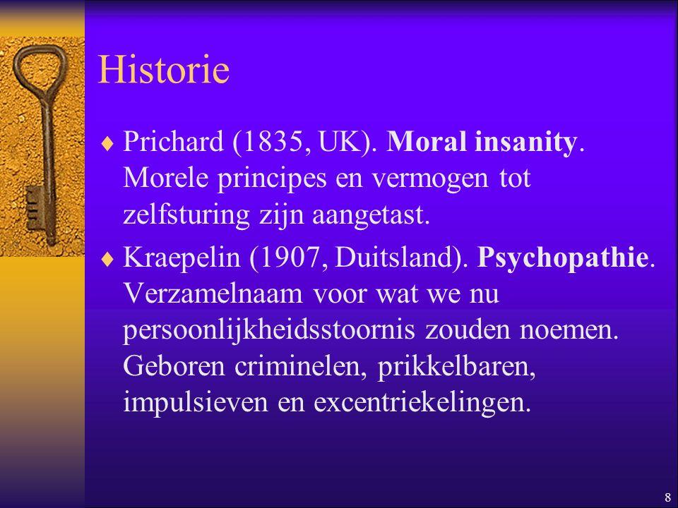 9 Historie  Partridge (1930, VS).Sociopathie.