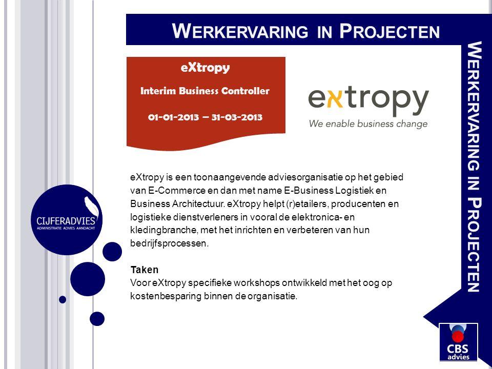 eXtropy is een toonaangevende adviesorganisatie op het gebied van E-Commerce en dan met name E-Business Logistiek en Business Architectuur. eXtropy he