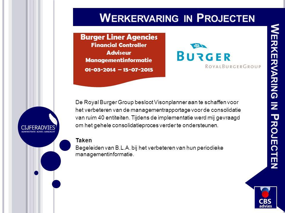 De Royal Burger Group besloot Visonplanner aan te schaffen voor het verbeteren van de managementrapportage voor de consolidatie van ruim 40 entiteiten