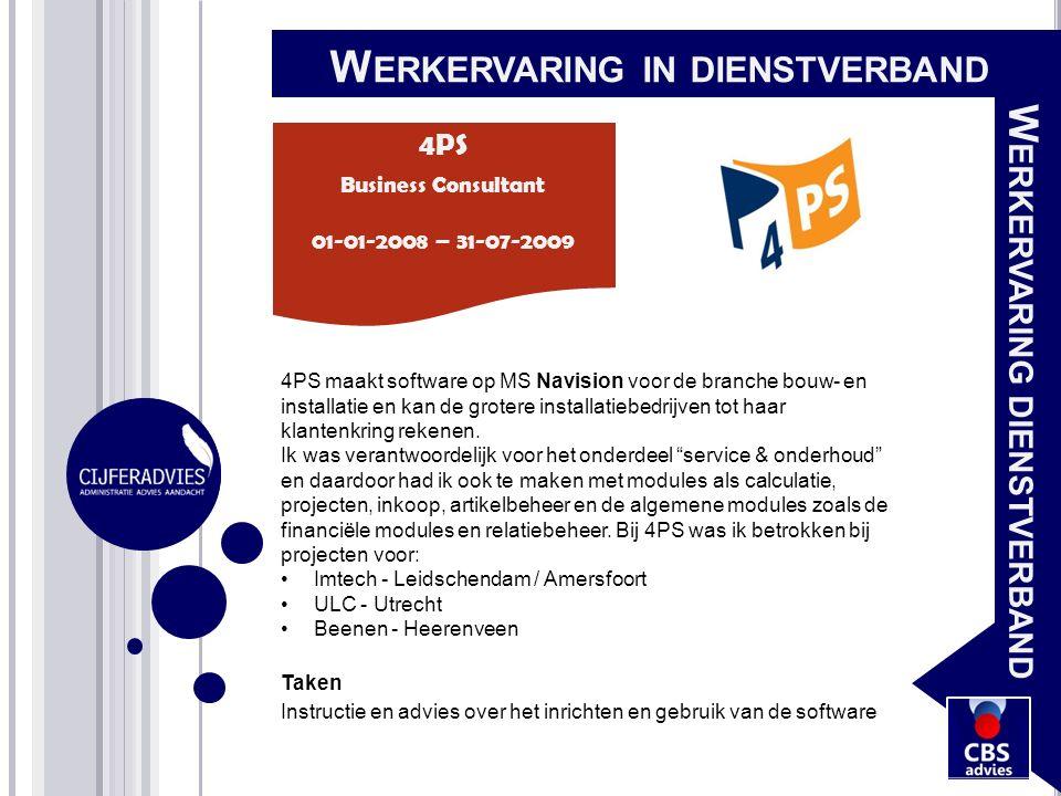 4PS maakt software op MS Navision voor de branche bouw- en installatie en kan de grotere installatiebedrijven tot haar klantenkring rekenen. Ik was ve