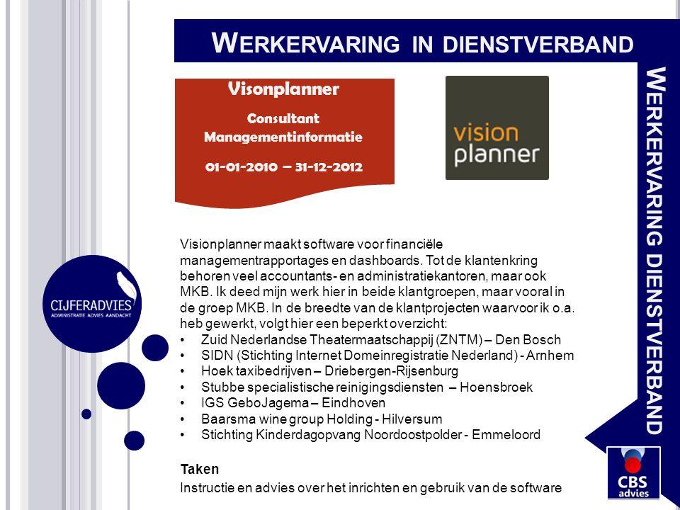 Visionplanner maakt software voor financiële managementrapportages en dashboards. Tot de klantenkring behoren veel accountants- en administratiekantor