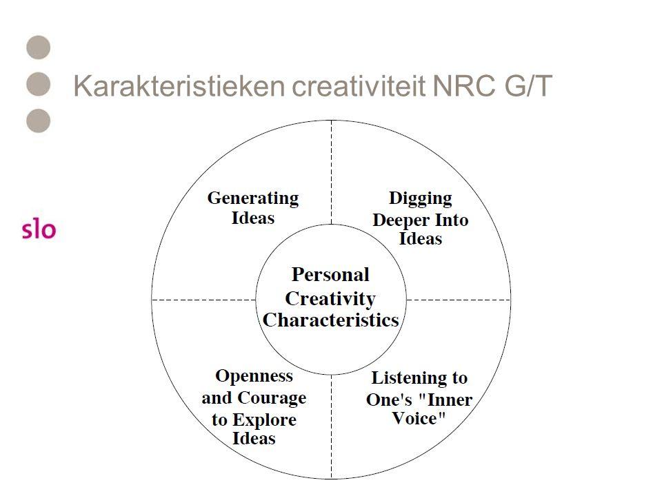 Karakteristieken creativiteit NRC G/T