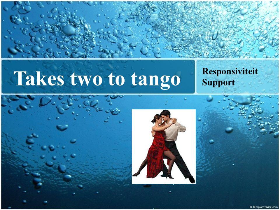 Takes two to tango Responsiviteit Support