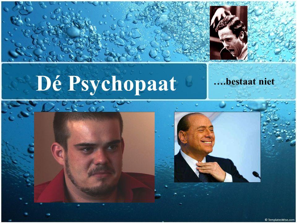 Dé Psychopaat ….bestaat niet