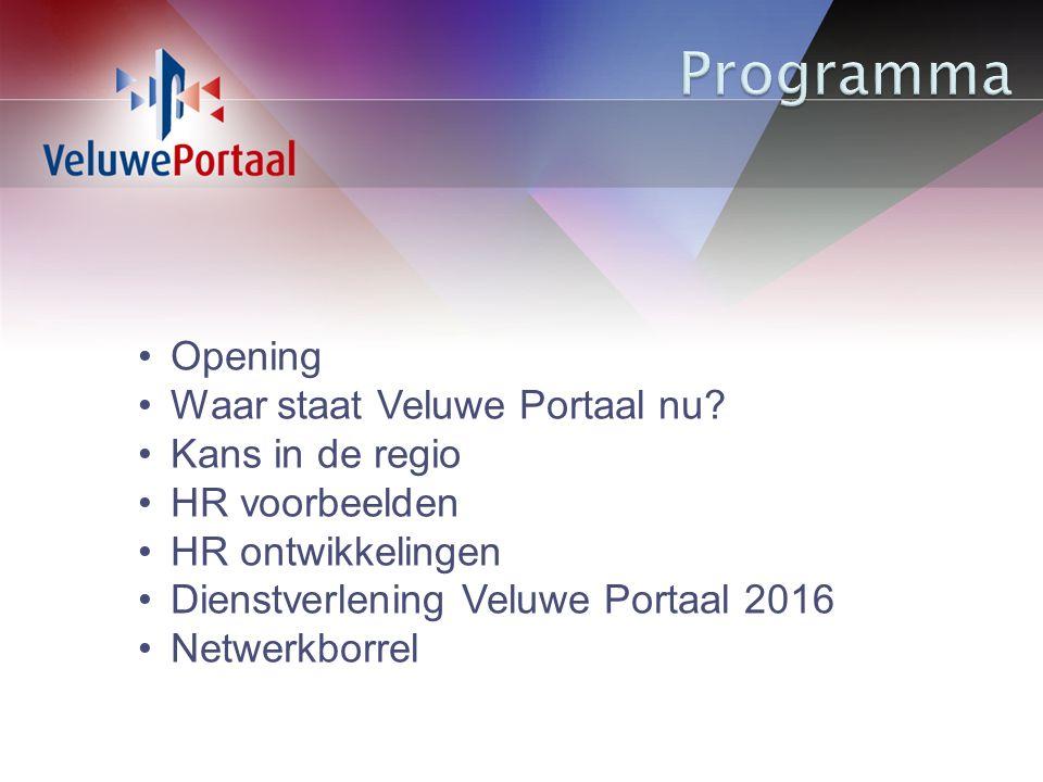 Opening Waar staat Veluwe Portaal nu.