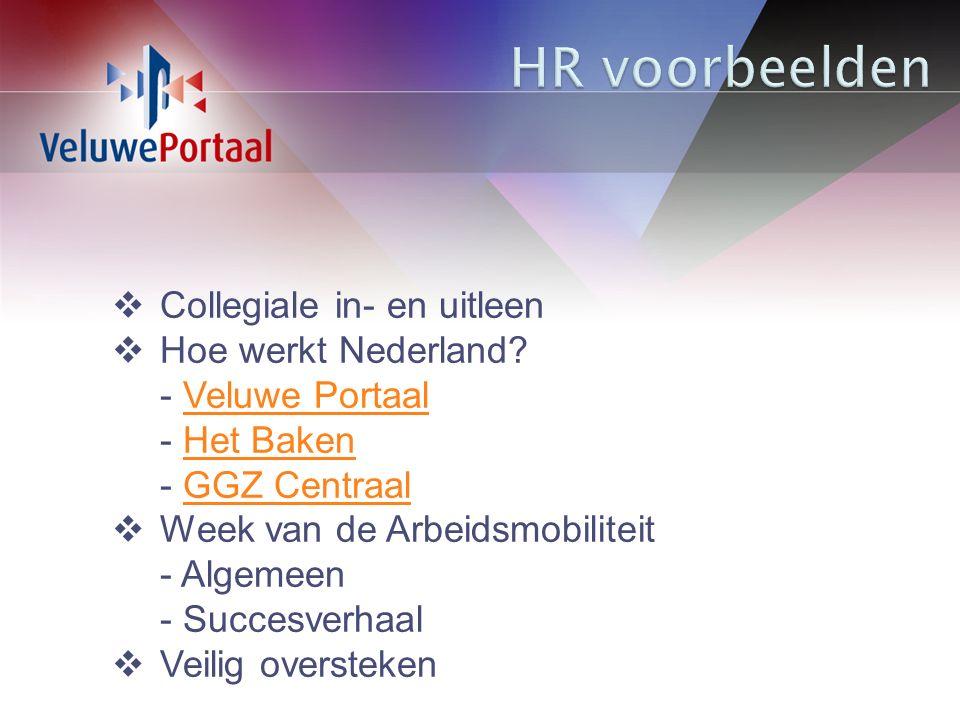  Collegiale in- en uitleen  Hoe werkt Nederland.
