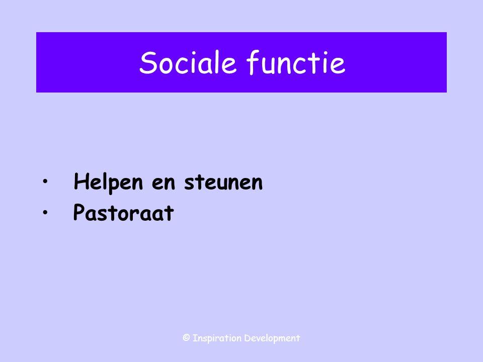 © Inspiration Development Sociale functie Helpen en steunen Pastoraat