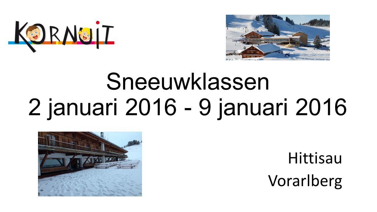 Sneeuwklassen 2 januari 2016 - 9 januari 2016 Hittisau Vorarlberg