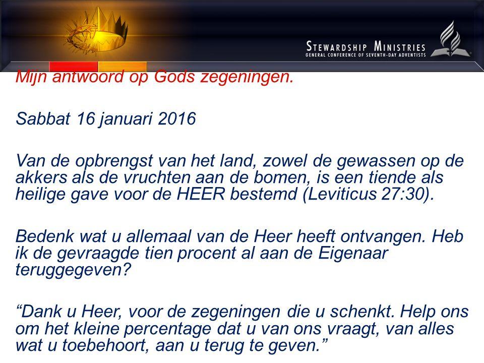 Mijn antwoord op Gods zegeningen.Sabbat 23 januari 2016 Ze begonnen zich allemaal te beklagen.