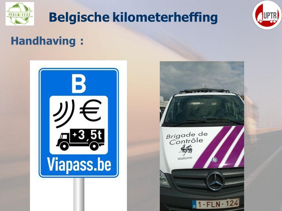42 Handhaving : Belgische kilometerheffing