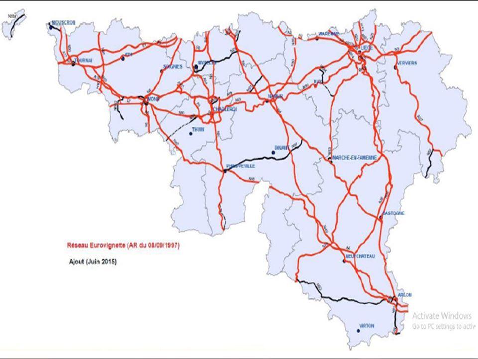 46 Partie II. L'impact pour les transporteurs : Les réseaux soumis à la taxe kilométrique Taxe kilométrique belge