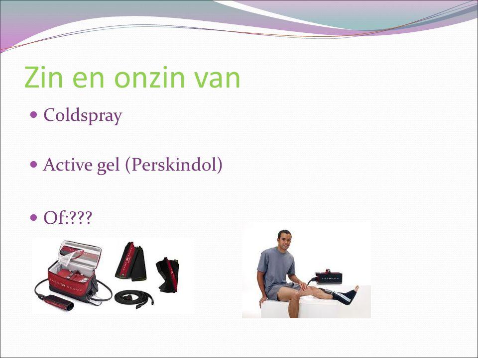 Zin en onzin van Coldspray Active gel (Perskindol) Of:???