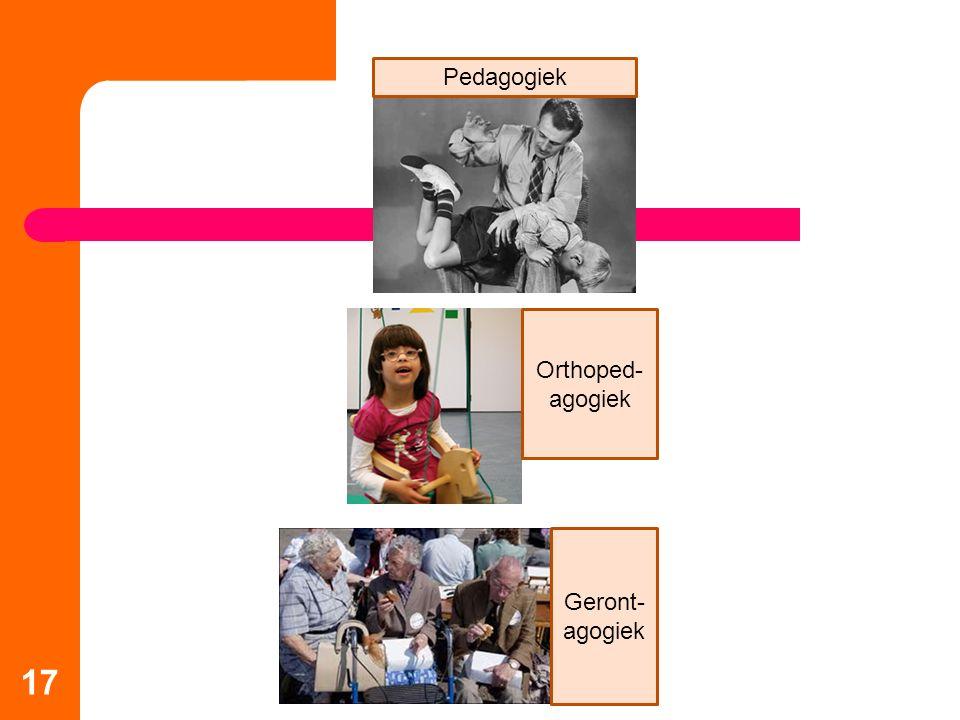 17 Pedagogiek Orthoped- agogiek Geront- agogiek