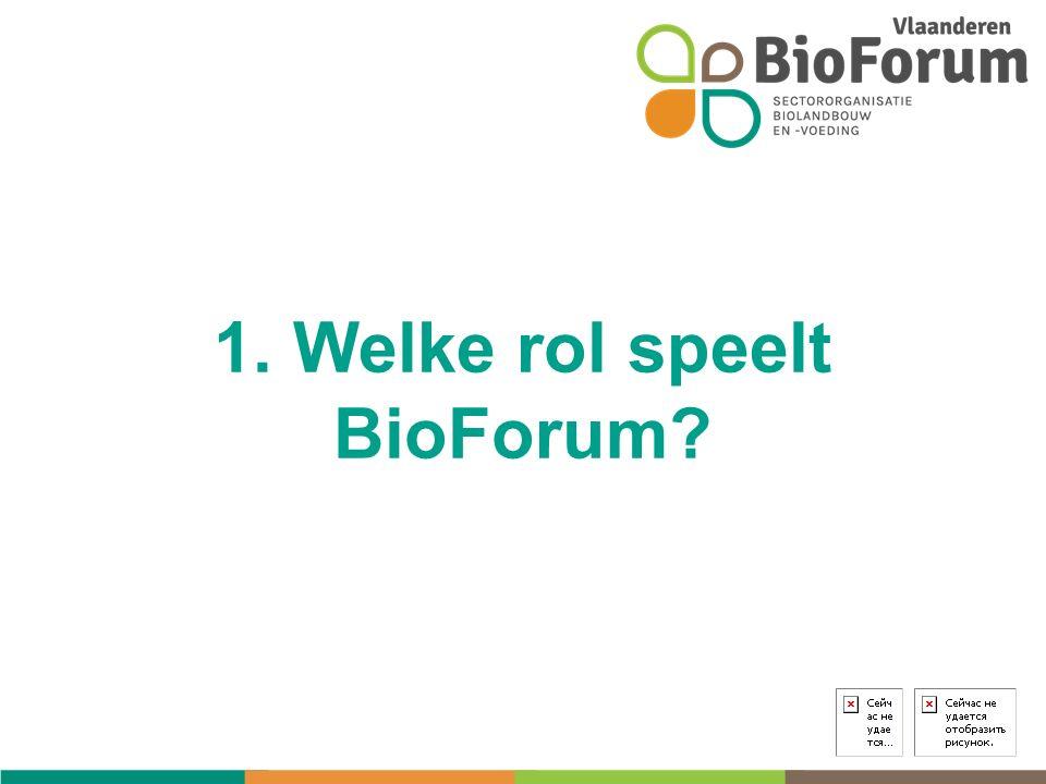 1. Welke rol speelt BioForum