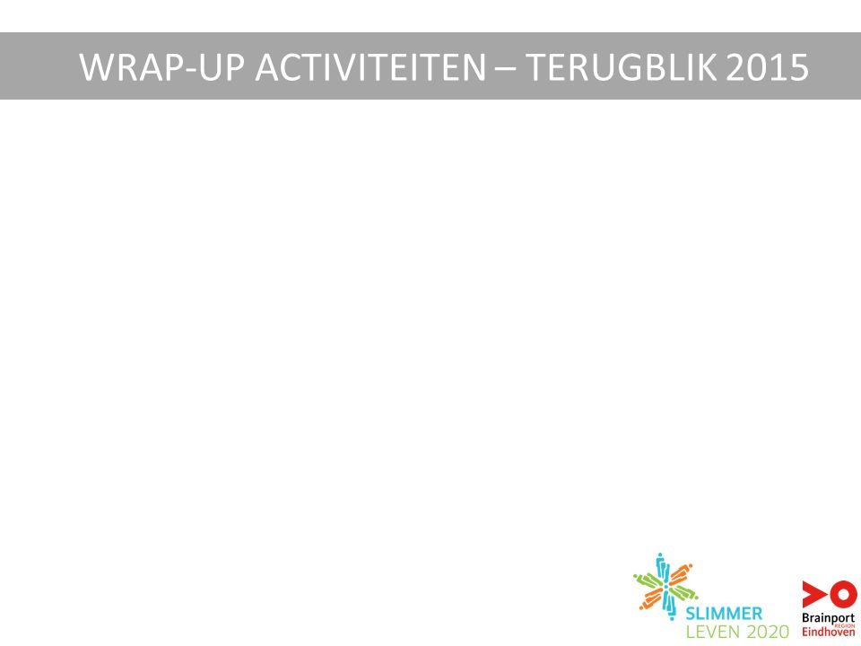 WRAP-UP ACTIVITEITEN – TERUGBLIK 2015