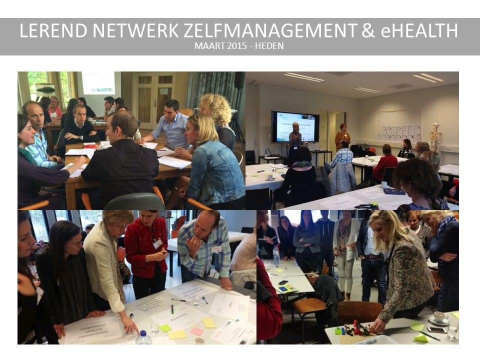 LEREND NETWERK ZELFMANAGEMENT & eHEALTH MAART 2015 - HEDEN