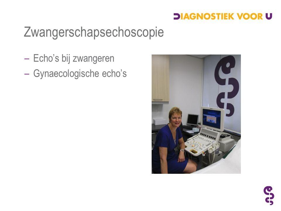 Zwangerschapsechoscopie –Echo's bij zwangeren –Gynaecologische echo's