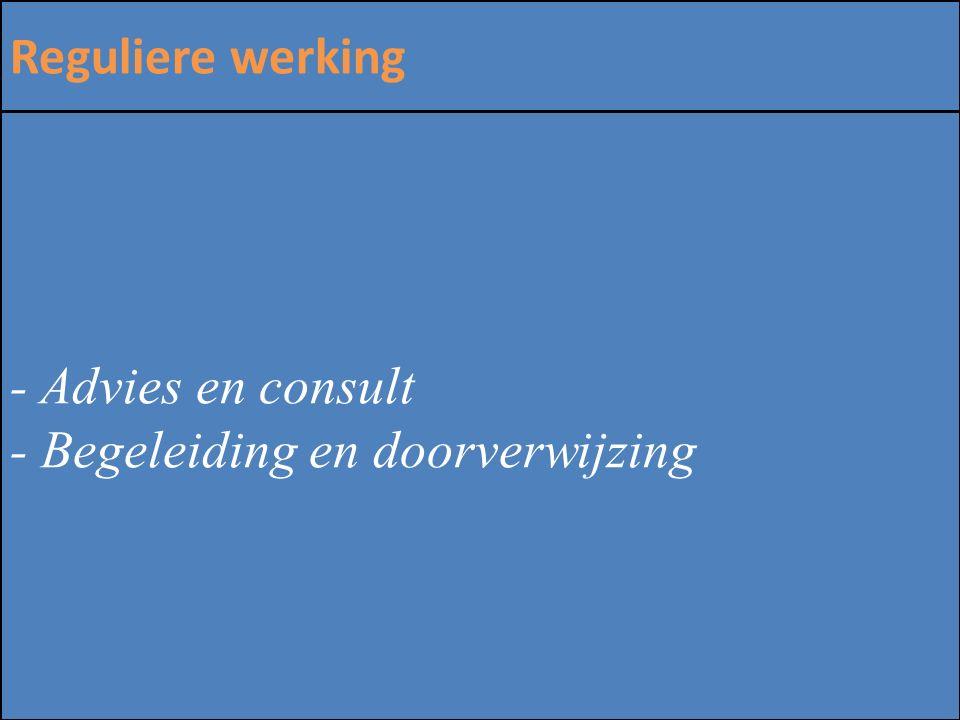 ZINLOOS GEWELD Reguliere werking - Advies en consult - Begeleiding en doorverwijzing