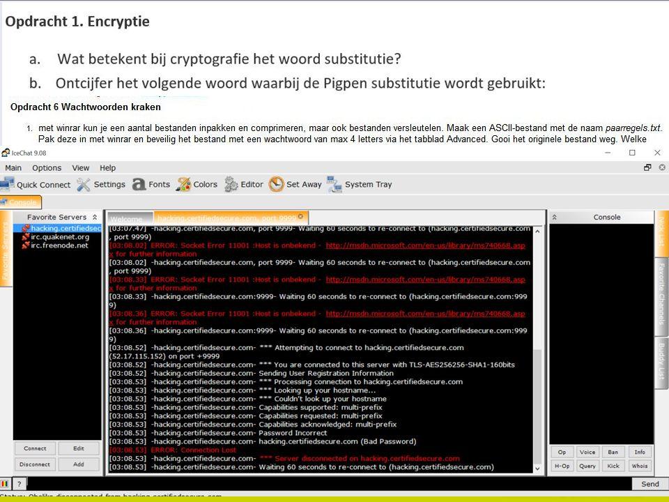 Encryptie en passwords