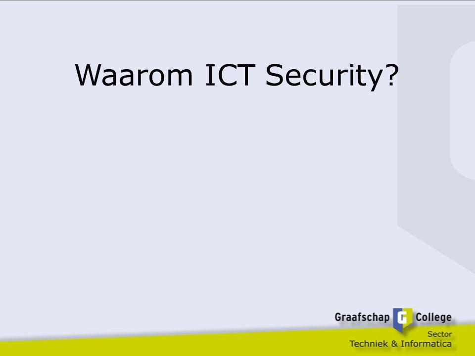 Waarom ICT Security in onze opleiding.