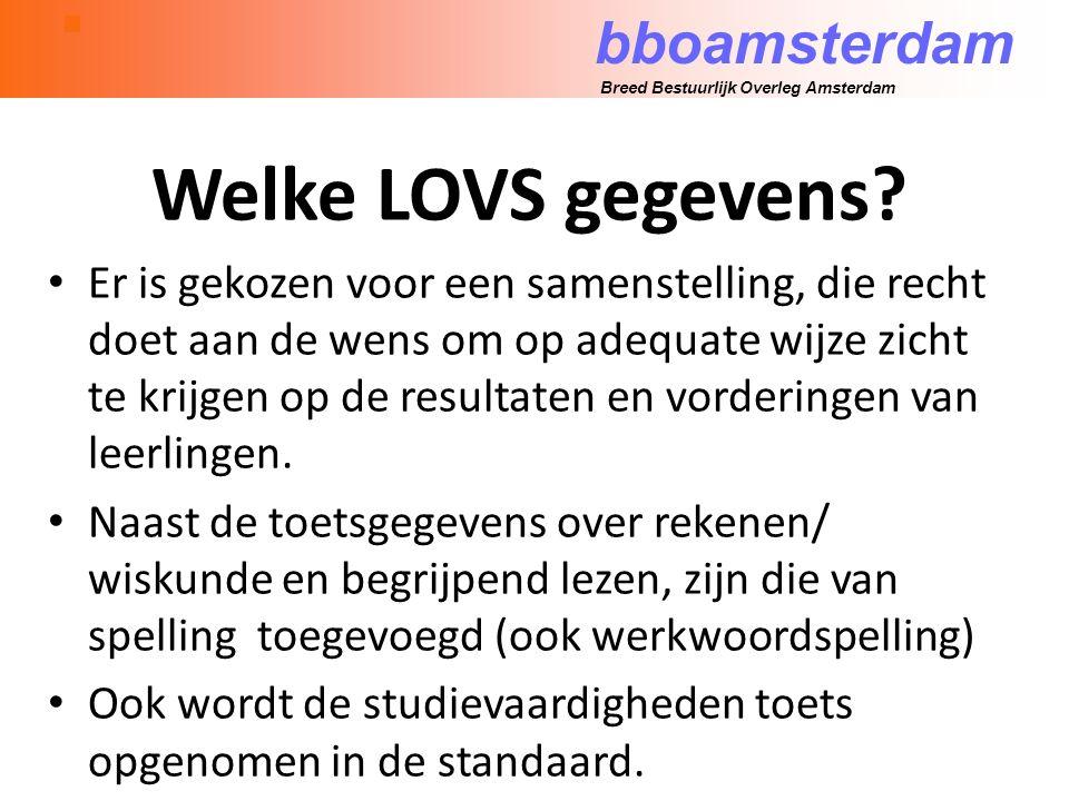 bboamsterdam Breed Bestuurlijk Overleg Amsterdam Welke LOVS gegevens.