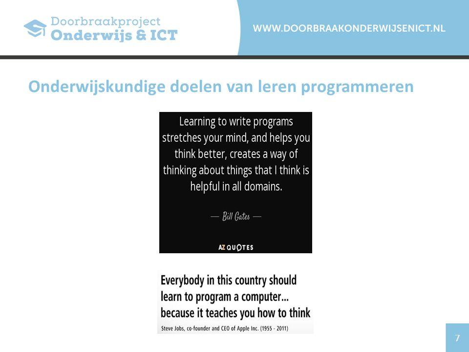 7 Onderwijskundige doelen van leren programmeren
