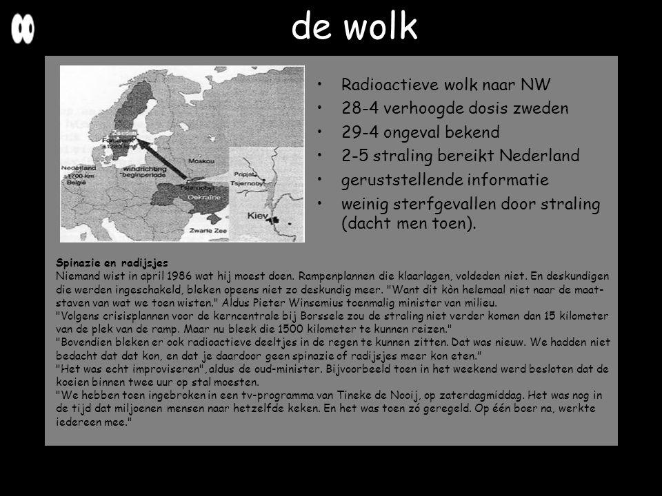 de wolk Radioactieve wolk naar NW 28-4 verhoogde dosis zweden 29-4 ongeval bekend 2-5 straling bereikt Nederland geruststellende informatie weinig ste
