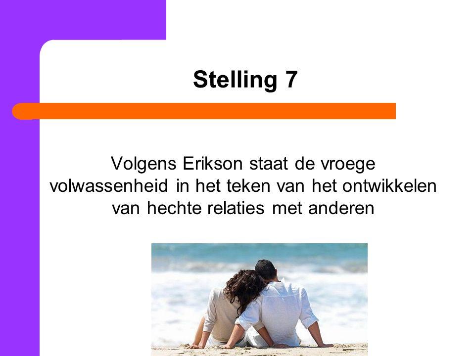 Stelling 8 Volgens de stimulus-waarde-rol theorie is een relatie in eerste instantie gebaseerd op uiterlijke, lichamelijke kenmerken