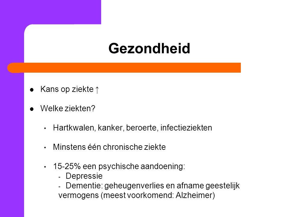 Ouder worden en ziekte Wat zijn risicofactoren voor ziekte.