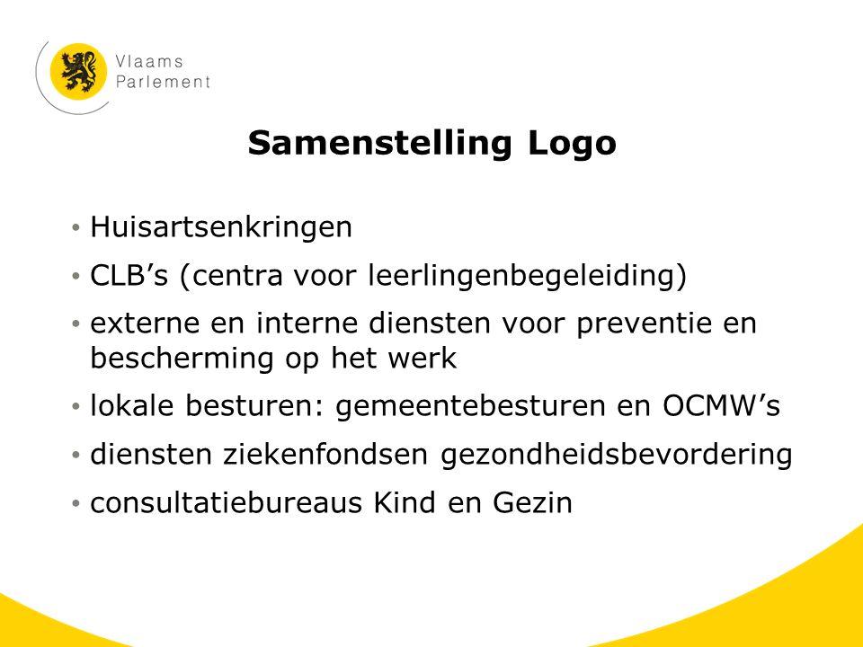 Samenstelling Logo Huisartsenkringen CLB's (centra voor leerlingenbegeleiding) externe en interne diensten voor preventie en bescherming op het werk l