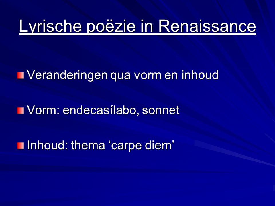 Redenen verschillen Renaissance = geloof in menselijk kunnen Barok = Spaans rijk begint te wankelen  desengaño (ontgoocheling, ontnuchtering)