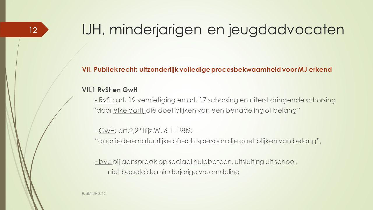 IJH, minderjarigen en jeugdadvocaten VII.